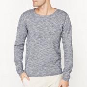 La Redoute Collections Pullover, runder Ausschnitt, meliert