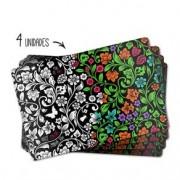 Jogo Americano Flores Para Colorir - 4 peças
