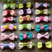 Sweet Baby Girls Hair Clips Kids Ribbon Hairpins Alligator Bow Clips