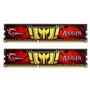 Memorie G.Skill Aegis 16GB (2x8GB) DDR3 1333MHz PC3-10600 CL9 1.5V, Dual Channel Kit, F3-1333C9D-16GIS