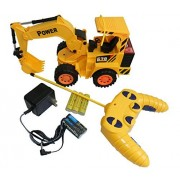 Night Lions Tech(TM) RC Excavator Remote Control Toy Power Shovel Loader Digging Truck Excavating Machine Digger Engineering