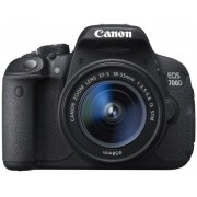 Aparat Foto D-SLR Canon EOS 700D cu Obiectiv EFS 18 - 55 IS STM, Senzor CMOS, 18 MP, Filmare Full HD (Negru)