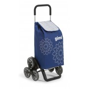 Gimi Tris lépcsőjáró bevásárlókocsi Floral kék - 145102