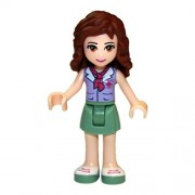 LEGO Friends Olivia with Purple Top, Green Skirt Minifigure
