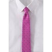 ランズエンド LANDS' END メンズ・シルク・テクスチャー・フローラル・タイ/ネクタイ(ピンクペチュニアフローラル)