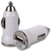 Incarcator auto, USB, alb