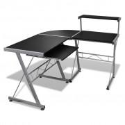 vidaXL PC stôl s výsuvom pre klávesnicu, čierny