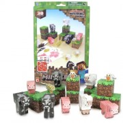 Minecraft - 16701 - Figurines - Set Papercraft - 30 Modèles Animaux - Animal Mobs