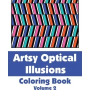 Artsy Optical Illusions Coloring Book by Various