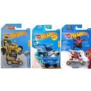 Hot Wheels 2017 New Casting Ride On 3 car bundle Fun Figure Rides Aisle Driver 235 / Skate Brigade 239 / Grass Chomper 69 in Protective Cases