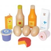 Jeu D'imitation Enfant Jeux Jouets Set D'aliments En Bois Healthy Basics 0102078