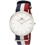 Daniel Wellington Men's 0103DW Classic Cambridge Watch with Multicolor Band