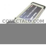 Adaptador ExpressCard a eSATA+USB (1-Port 34mm) eSATAp SIL3132