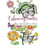 Coloring Books: Stress Relieving Flowers Designs by Link Coloring