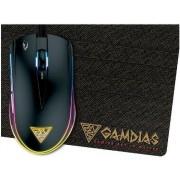 Mouse Gaming Gamdias ZEUS E1 + Mouse Pad Small (Negru)