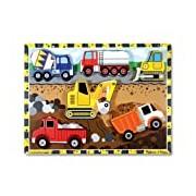 Melissa & Doug Wooden Chunky Puzzle - Construction