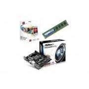 Kit Actualizacion AMD Procesador A-Series A4 4000 Dual Core 3.2GHz + Tarjeta Madre ASRock FM2A58M-VG3+ R2.0 + Memoria DDR3 Adata 4GB 1333MHz-Negro