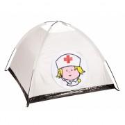 Witte verpleegster tent voor kinderen