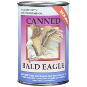 "Canned Critters Stuffed Animal: Bald Eagle 6"""