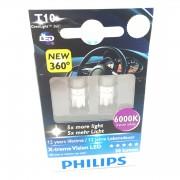 Pack 2 Ampoules T10 Philips CeraLight 360 X-treme Vision LED 6000K -...