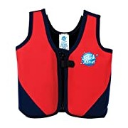 Splash About Kids Neoprene Float Jacket with Adjustable Buoyancy - Red/Navy, 10-14 Years