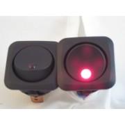 Comutator auto rotund Pornit/Oprit 12-24V cu indicator LED de functionare