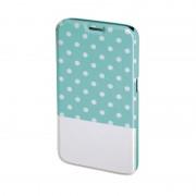 Husa Booklet Lovely Dots Samsung Galaxy S6, Verde/Alb