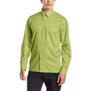 Premier Workwear Poplin Long Sleeve Shirt, Camisa para Hombre, Verde (Lime), Large