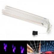 No?l Mariage décoration de jardin Light Purple Meteor Shower RainTube Lights ( DC 12V / US Plug )
