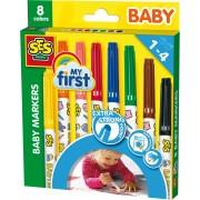 SES Creative stiften, 'Baby Marker 8 kleuren My First'
