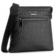 Geantă crossover GUESS - New Boston Embossed HM6104 POL73 BLA
