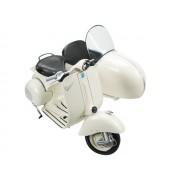 Miniatura moto Vespa con sidecar escala 1:6.
