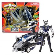 Bandai Year 2007 Power Rangers Jungle Fury Series 8 Inch Long Vehicle Set Blue Thunder Roar Vehicle That Morph To Animal Zord Plus Bat Ranger