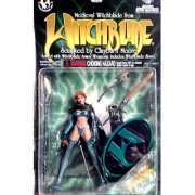 Emerald Medieval Witchblade Action Figure Exclusive Variant - Added Green Cloth Cape plus Metallic Emerald Clothes - 1998 Witchbalde Series