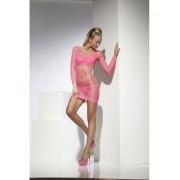 Rochie Net Lattice roz neon