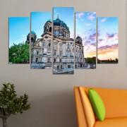 Декоративни панели за стена с изглед на катедрала в Берлин Vivid Home