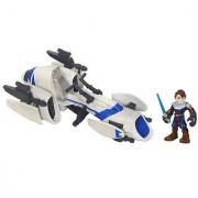 Star Wars Jedi Force Playskool Heroes Barc Speeder Bike with Anakin Skywalker Set
