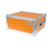 """AWEO 4 HE Amp Rack 19"""" Double Door 45 CM Flightcase orange"""