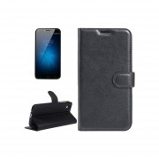 Umi London Litchi Texture Horizontal Flip Leather Case With Holder And Card Slots And Wallet(Negro)