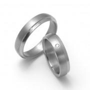 Snubní Titanové prsteny ZERO Collection TTN0801+TTN0803