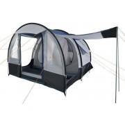 CampFeuer - Tunnelzelt, schwarz - blau/grau, 4 Personen, 2000 mm WS