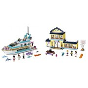 LEGO Friends 41015 Dolphin Cruiser and 41005 Heartlake High Gift Bundle by Strong Economy