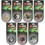 Lego Star Wars Magnet set of 7 Darth Maul Yoda Chewbacca Han Solo Luke Skywalker Obi-Wan Kenobi Princess Leia