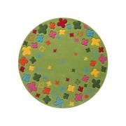 Tapis Rond Chambre Enfant Bloom Field Tapis Enfants Par Esprit Vert 100 X 100 Cm