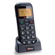 TTfone (TT800) - Téléphone sans Fil à Grosses Touches - Ecran Large - Facile à utiliser - Lampe Torche - Touche Appel d'Urgence - Numéros Parlants - Noir