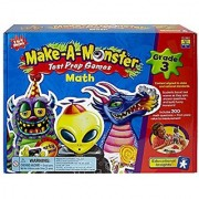 Make-A-Monster Math Test Prep Games - Grade 3