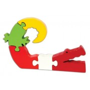 Skillofun Wooden Take Apart Puzzle Alligator, Multi Color