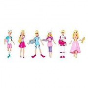 Set of 6: 4 Exclusive Mattel Barbie Mini Doll Careers - Cook Football Player Veterinarian Dolphin Trainer Astronaut