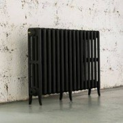 Arroll Neo-Classic 4 Column Radiator, Black Primer (W)874mm (H)660mm