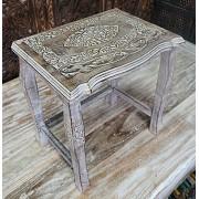 Stolik,stół drewniany rzeźbiony średni Indie